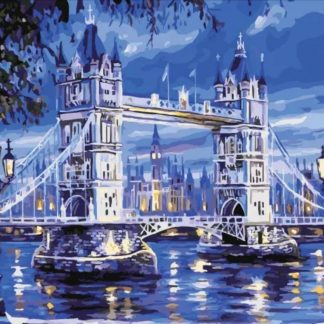 London Bridge in Blue | Paint by Numbers