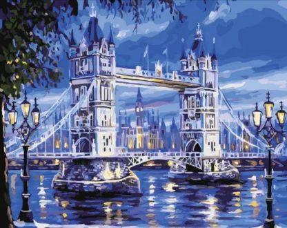 London Bridge in Blue | Paint by Numbers