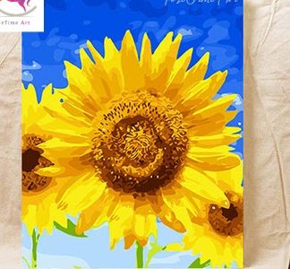 Paint by number_ Sunflower Blue Sky