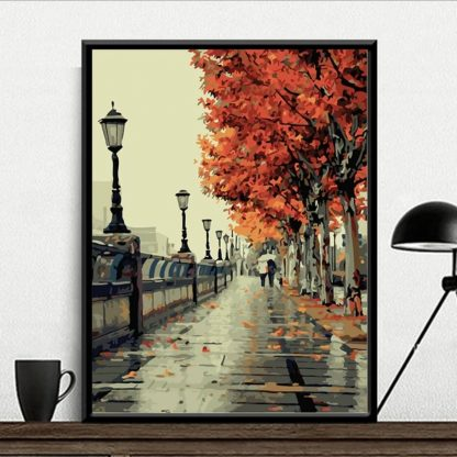 Autumn Street_ Paint by numbers