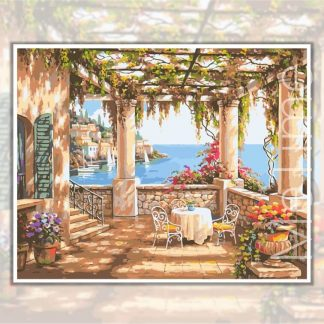 Mediterranean Terrace | Painting by Numbers Malaysia
