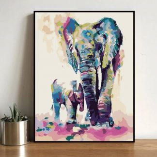 Colorful Elephant | Paint by Numbers Malaysia