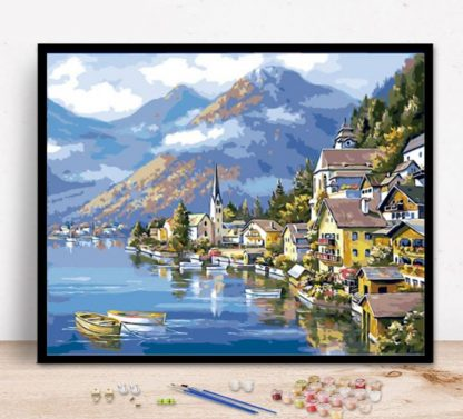 Switzerland Landscape | Paint by Numbers Malaysia