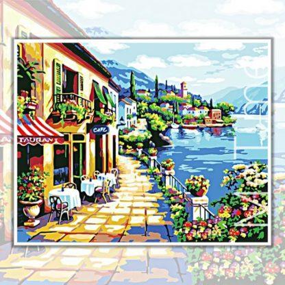 Cafe at seaside