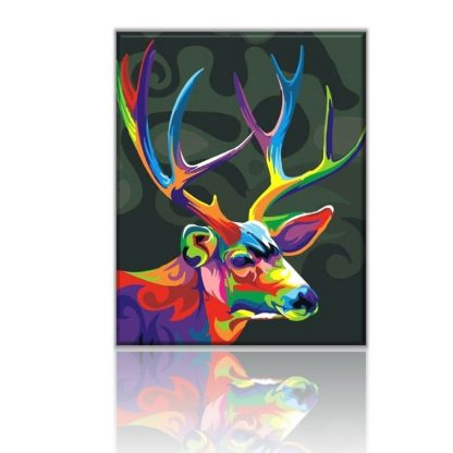 Colourful Reindeer Paint by Numbers