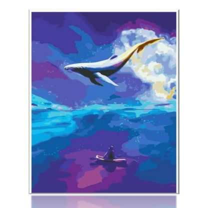 Dream Whale Blue Sea | Paint by Numbers