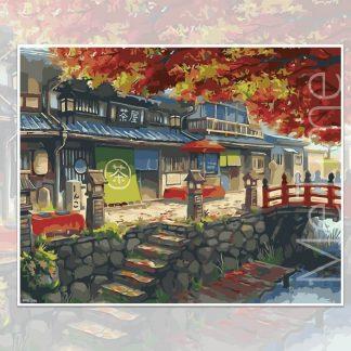 Autumm Tea House Japan