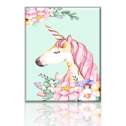 Pinky Unicorn | Paint by Numbers