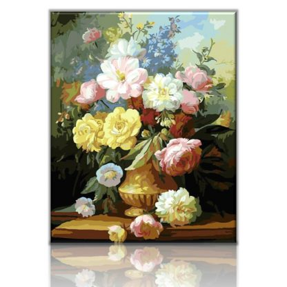 A bouquet of summers flowers   Paint by numbers Malaysia
