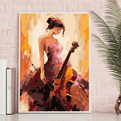 Cello lady | Paint by Numbers