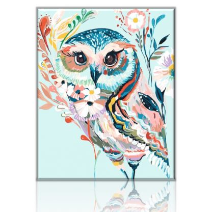Colorful Owl | Paint by numbers Malaysia