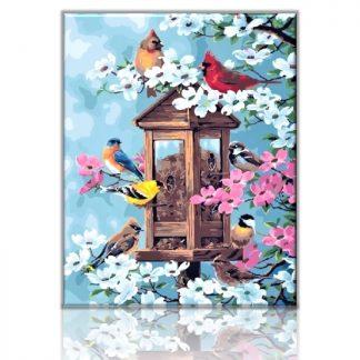 Joys of Spring - Birds and Flowers