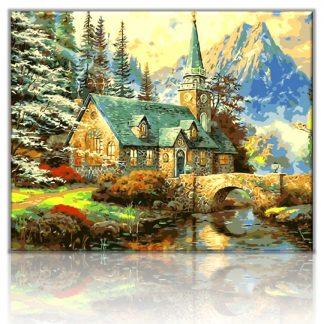 Alpine landscape Chapel