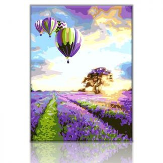 Hot Air Balloon Lavender Field