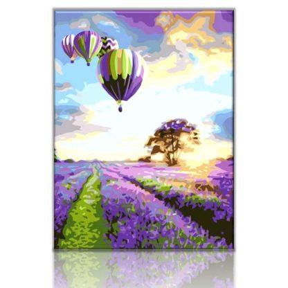 Hot Air Balloon Lavender Field