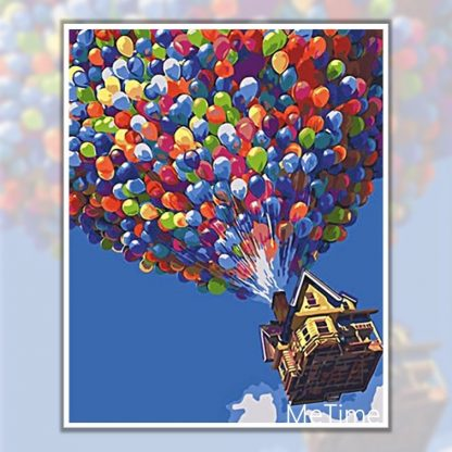 Up Balloons with House