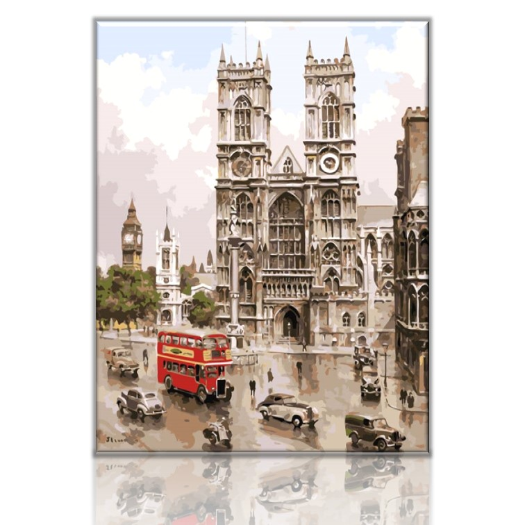 Westminster Abbey London Church | Paint by Numbers Malaysia