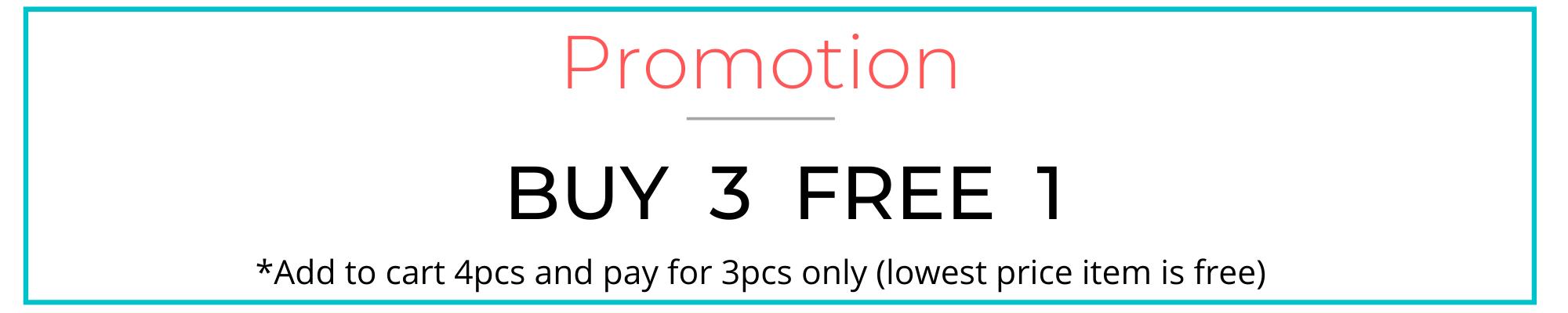 Buy 3 Free 1 Banner