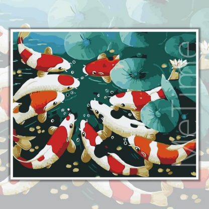 9 Koi Fishes Paint by Numbers