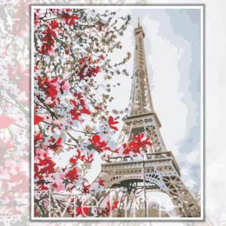 Cherry Blossoms and Eiffel Tower