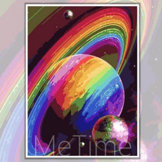 Galaxy Saturn Planet