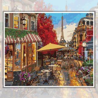 Paris Street in Evening