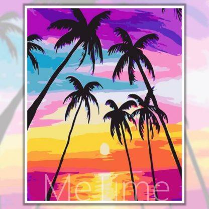Sunset Coconut Trees