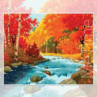 Mapple Trees Along River