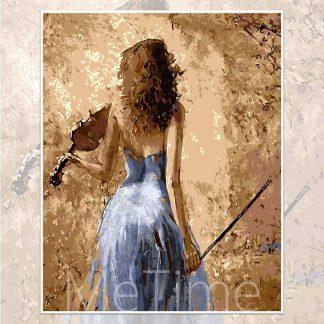 Violin Girl Back