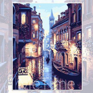 Night of Venice Canal