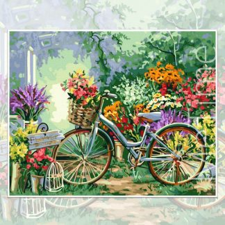 Flowers and Bicycle