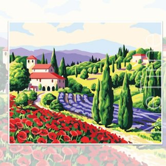 Tuscan Garden Scenery