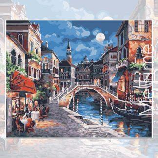 Venice Bridge in the Night